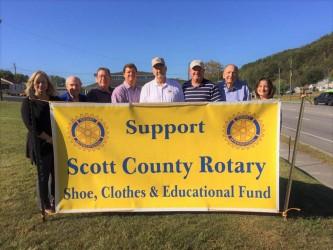 Scott County Rotary kicks off annual shoe drive