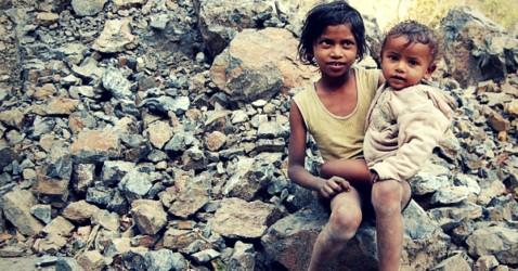 An NGO feeds poor children in Chhattisgarh