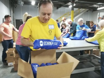 Rotary ties up for medical supplies to clinics in Georgia township