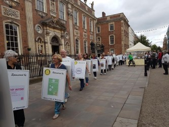 Rotary march grabs attention in Worcester
