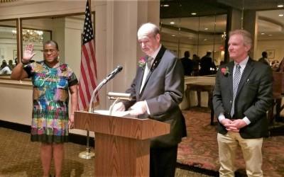 Community activist sworn in as Club President