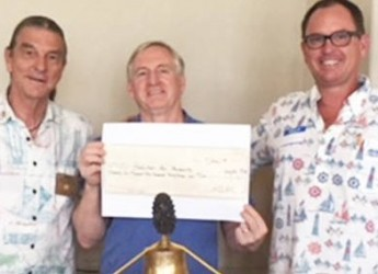Rotary donates for flood relief in Hawaii