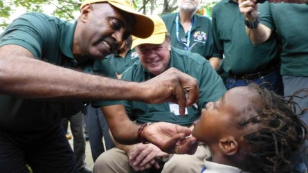 Rotary hangs in to eradicate polio once and for all