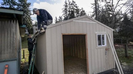 Rotary donates storage shed to charity group