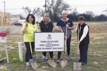 Rotary breaks ground on Habitat home