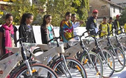 A Cyclothon promotes literacy and sanitation
