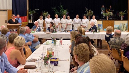 Rotary fundraiser dinner at high school