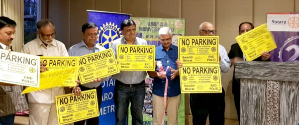 Rotary messages on No Parking boards