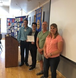 Rotary honours student with service award