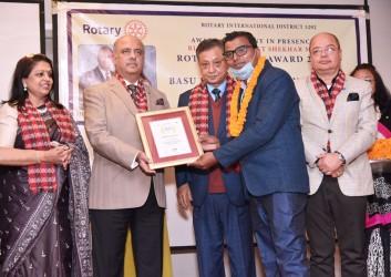 RIPE Shekhar Mehta felicitated  in Pokhara, Nepal